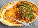 Рецепта Постен гювеч с картофи, чушки и патладжани